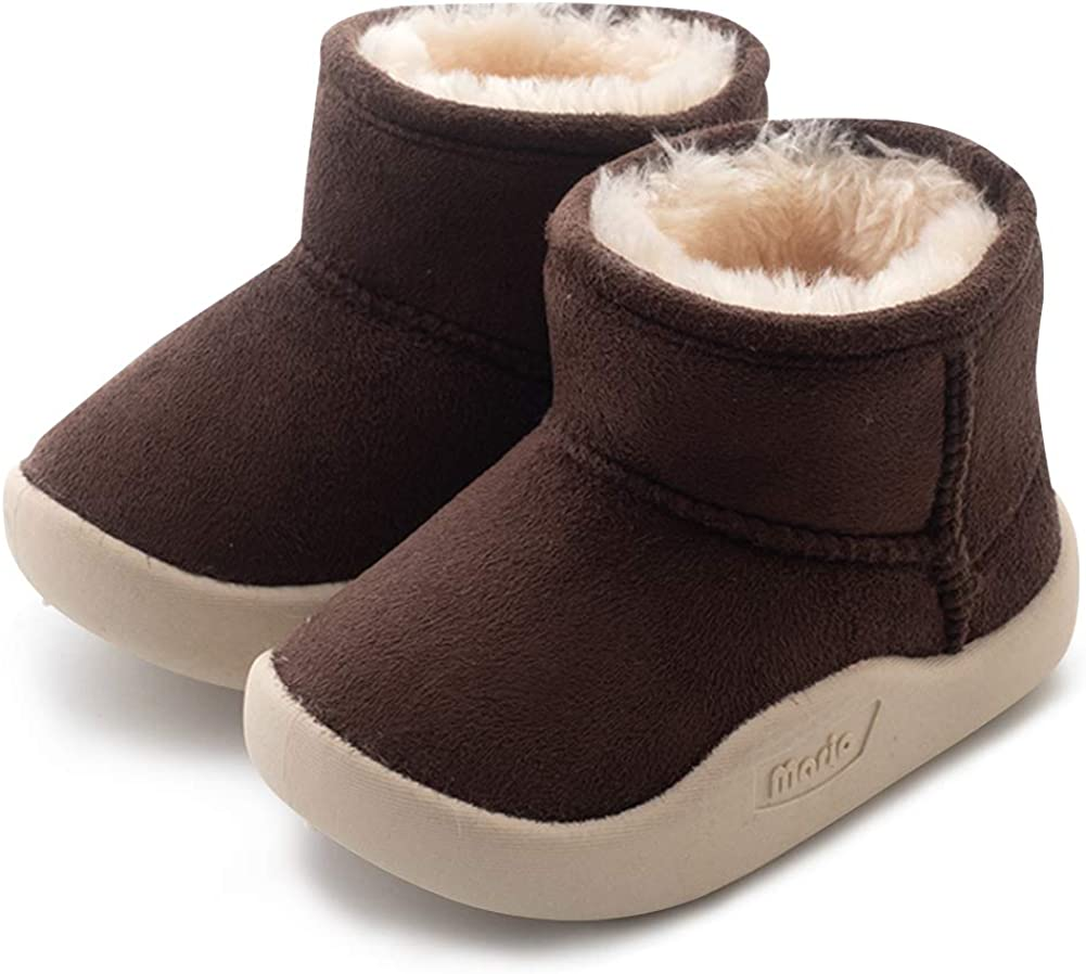 Warm Newborn Toddler Boots Winter First Walkers Baby Girls Boys Shoes Soft Sole