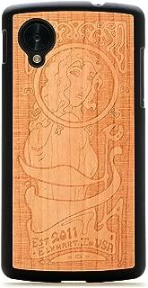 product image for CARVED Matte Black Cherry Wood Case for Google Nexus 5 - Art Nouveau (N5-BC1K-E-ARTN)