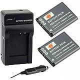 DSTE® アクセサリーキット Pentax D-LI88 DB-L80 VW-VBX070 互換 カメラ バッテリー 2個+充電器キット対応機種 Optio H90 P70 P80 W90 WS80