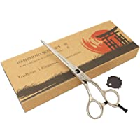 HASHIMOTO Professional Hair Scissors/Shears for Barber,Mirror Polished Surface,Japanese Steel Hand Made (6.0 inch cutting)