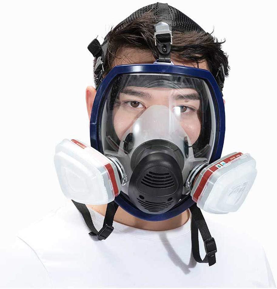 SHENXX Máscara Respiratoria, Máscara Antipolvo, Máscara De Gas Máscara Completa Pintura En Aerosol Químico Especial Gas Venenoso Polvo De Fuego Polvo Industrial