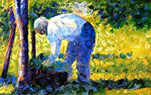 "The Gardener by Georges Seurat - 16"" x 24"" Premium Canvas Print"