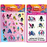 Trolls 4ct Sheets of Stickers and Temporary Tattoos