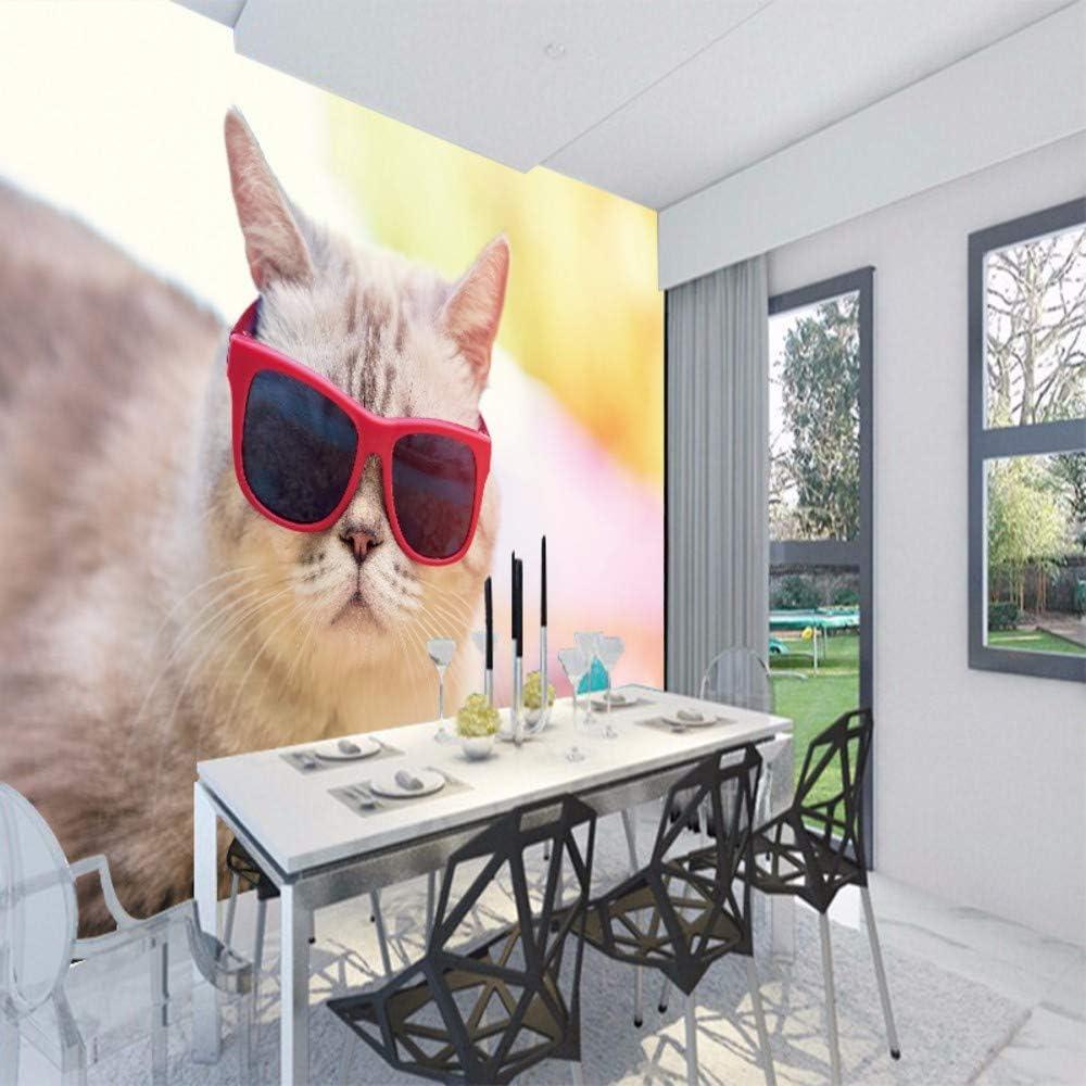 RTFC Effect Photo Wallpaper Hd Beautiful Cute Cat Photography Close Tv Background Wall Living Room Wallpaper Lobby Mural-150X120Cm