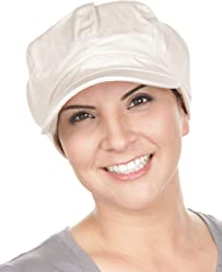 Turban Plus Womens Cotton Newsboy Fitted Summer Chemo Hat 3cf92e7f7ee8