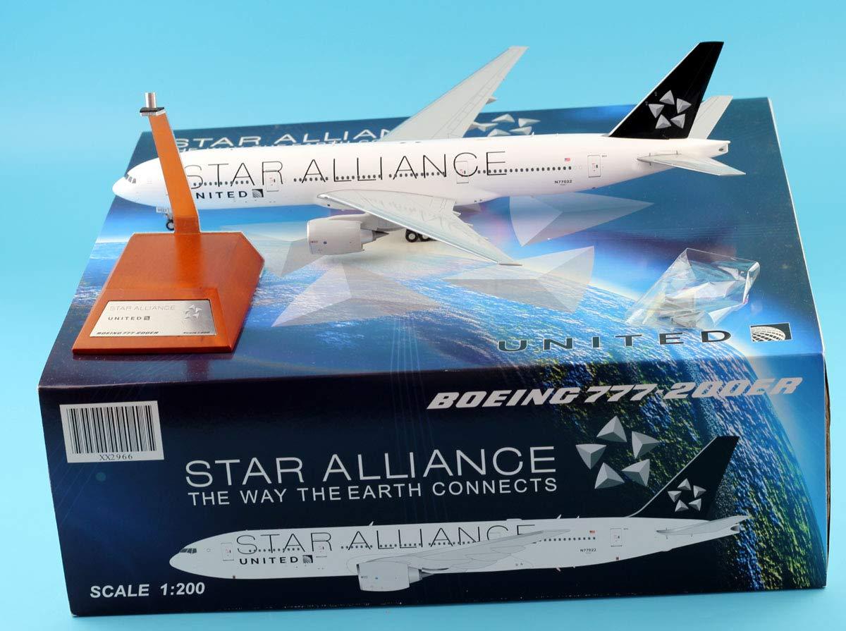 【激安】 JC Reg#N77022 Wings 1:200 XX2966 United Airlines Star Star Alliance B777-200ER 1:200 星空の連合 ダイキャスト航空機モデル Reg#N77022 B07R4HW4LB, 西多摩郡:e648d801 --- calloffice.com.tr