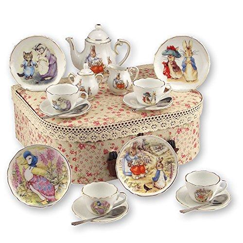 Reutter Porcelain Beatrix Potter Peter Rabbit & Friends - Medium Childs Tea Set