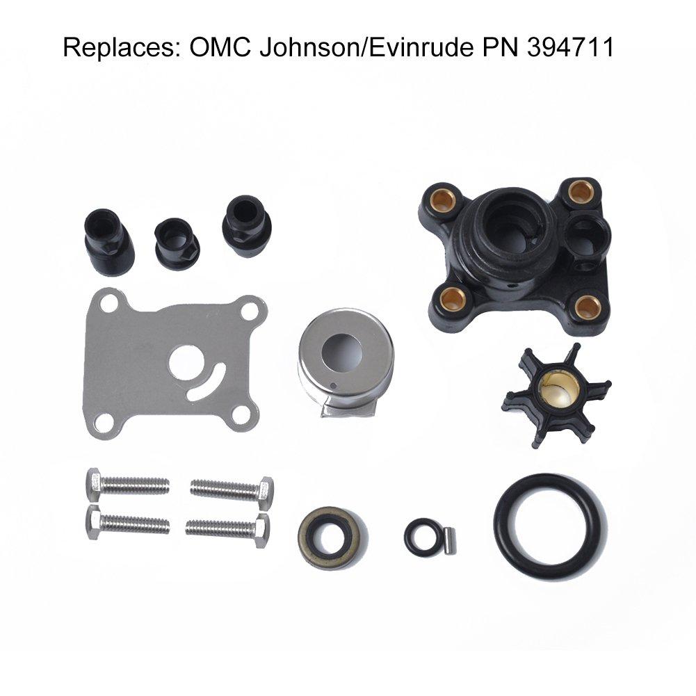 Kit riparazione per pompa dell' acqua, girante di riparazione Kit 9.9Hp & 15HP per Johnson/EVINRUDE 394711 lennonsi