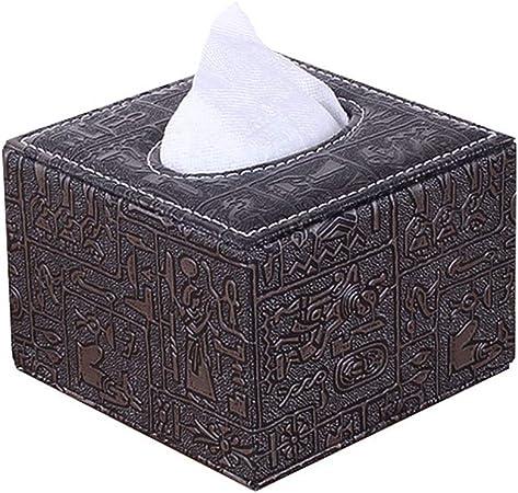 PGYIA - Caja de pañuelos, de piel sintética, cuadrada, dispensador de pañuelos, caja de almacenamiento para decoración del hogar: Amazon.es: Hogar