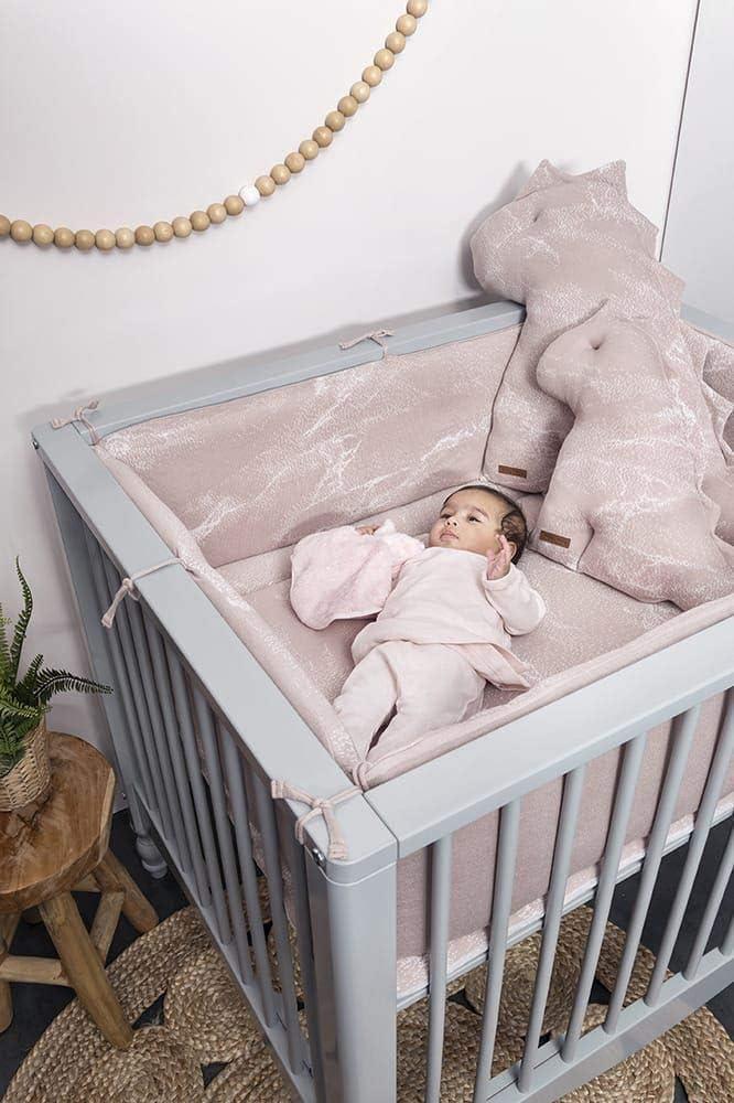 Baby ́s Only Tour de lit en marbre Gris 330 x 28 cm