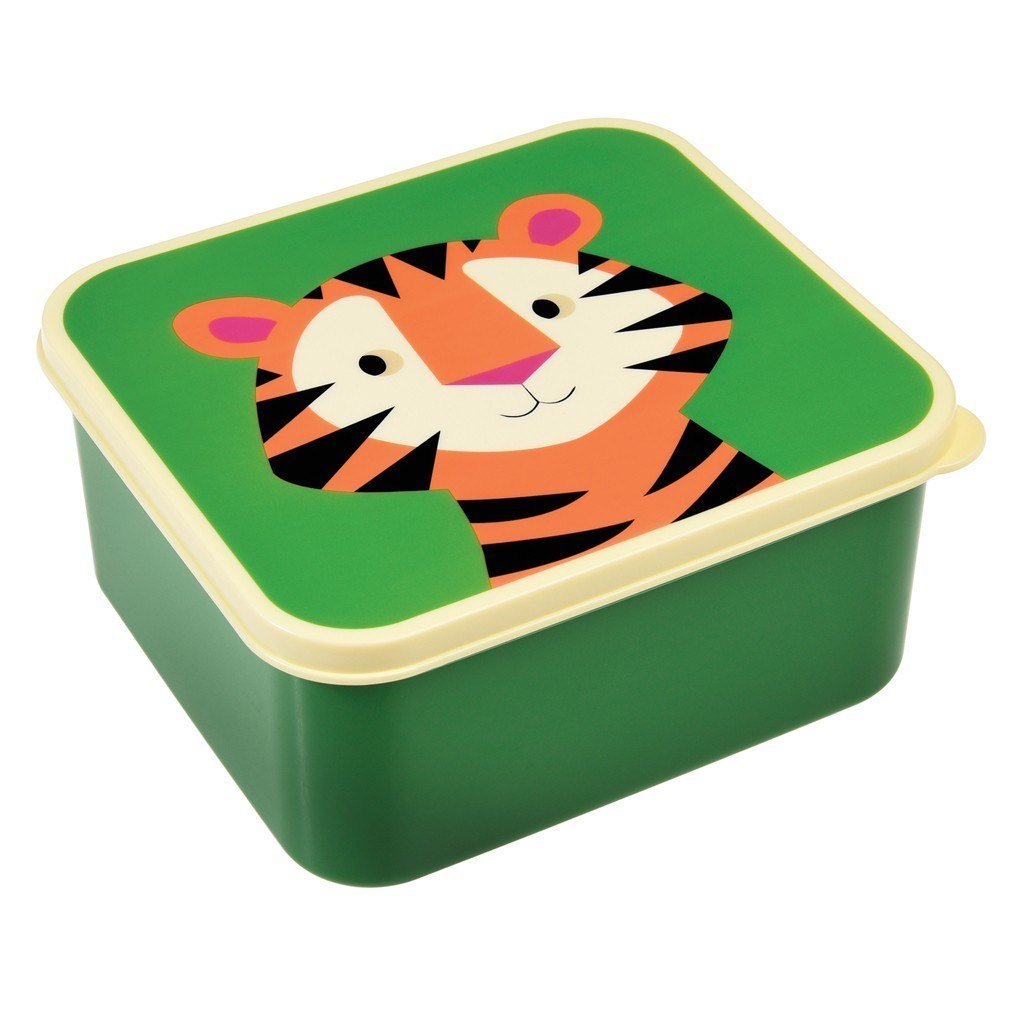 dotcomgiftshop BPA Free Colourful Creatures Lunch Box - Choice Of Design (Tiger)