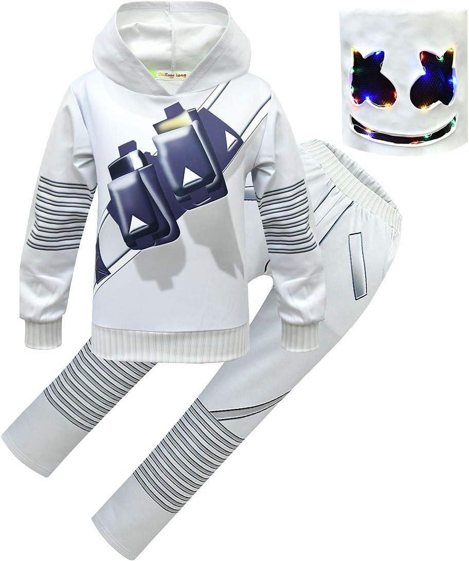 QYS Marshmallow Remix Disfraces de Cosplay Niños Niño Niña Largo ...