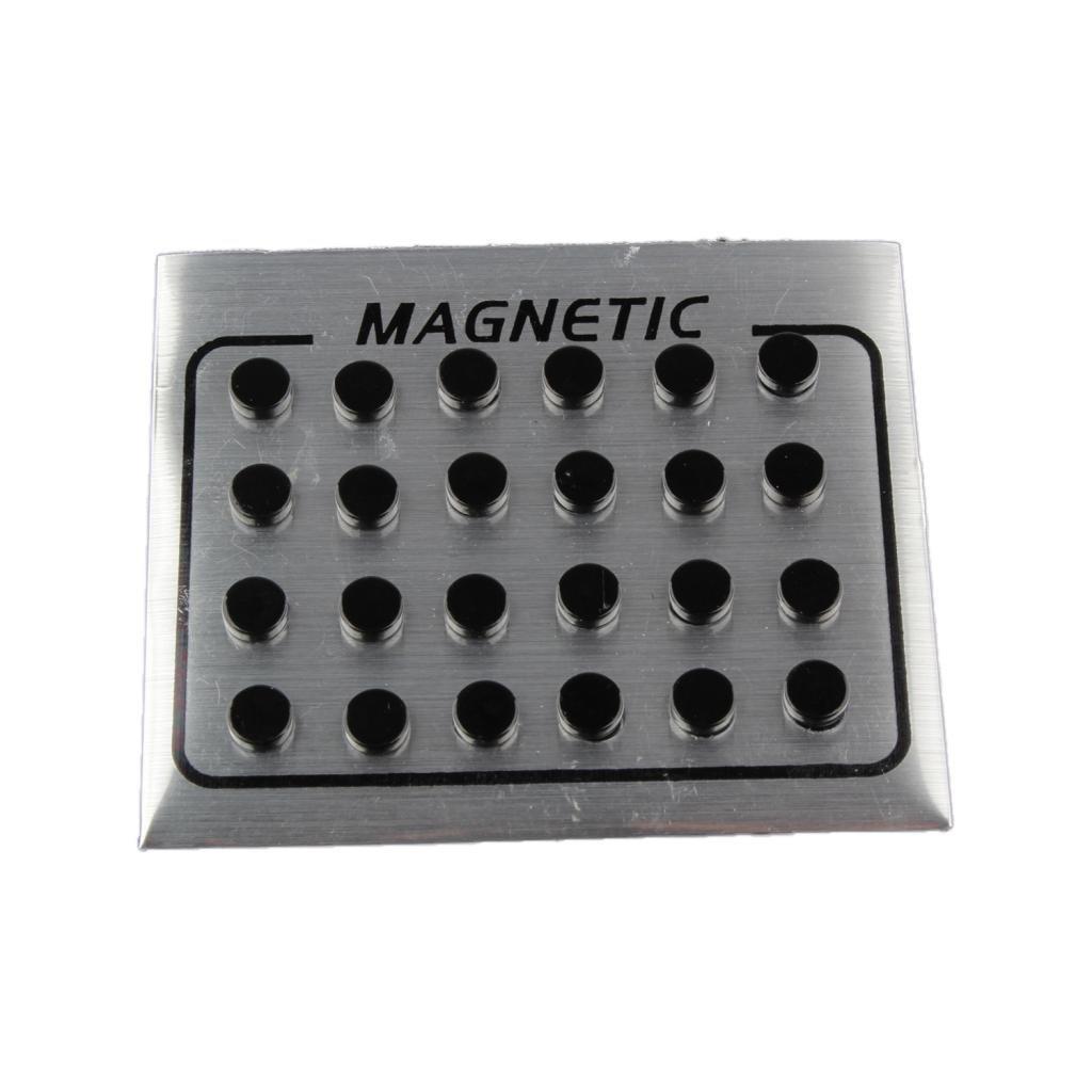 MagiDeal 12 Pair Mens Women Black Magnetic Clip On Ear Stud Earrings No Piercing 6mm