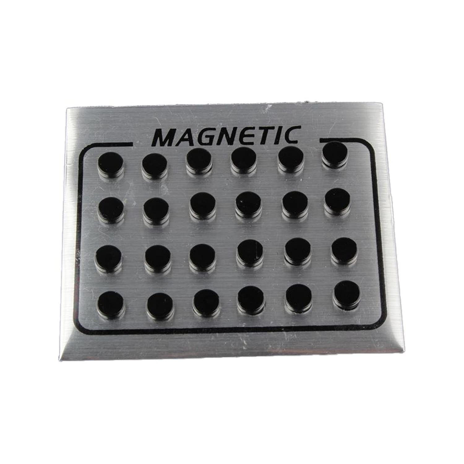 ad9bd2b8d Dovewill 12 Pairs Black Magnet Fake Ear Studs Round Magnetic Earring Men Ear  Stud 6mm