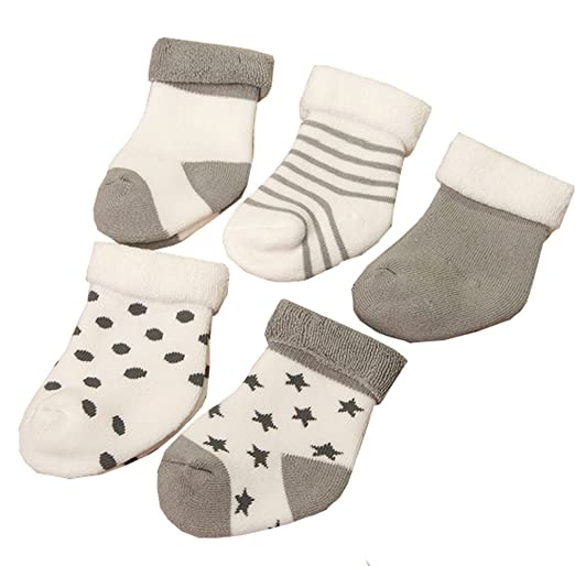 5 opinioni per IKRR Calze di cotone calze bambino IKRR 5 pezzo del bambino