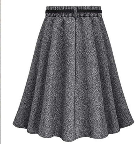 DAHDXD Otoño Invierno Faldas de Mujer Faldas Señoras Vintage ...