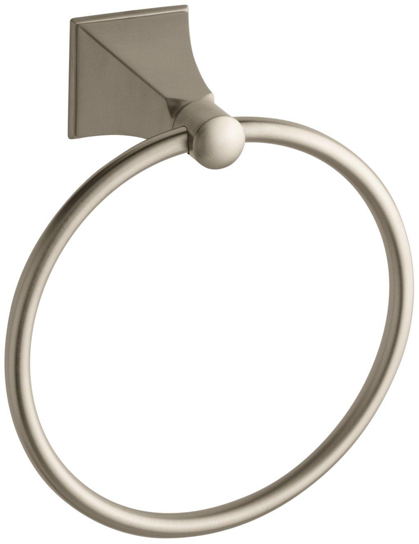 KOHLER K-487-BV Memoirs Towel Ring with Stately Design, Vibrant Brushed Bronze by Kohler