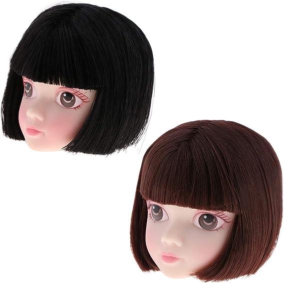 """2pcs 1//6 Nude Action Figures Head Sculpt for 12/"""" Female Doll Makeup"""