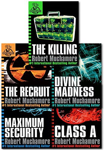 Cherub Series 1 Collection 5 Books Set (Books 1 To 5) By Robert Muchamore (Class A, Divine Madness, The Recruit, The Killing, Maximum Security) (Cherub Collection)