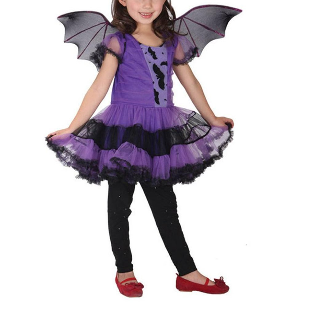 For 2-15 Years Old Kids , Xshuai® 3Pcs Halloween Newborn Infant Toddler Baby Girls Clothes Costume Dress Party Dresses+Hair Hoop+Bat Wing Outfits