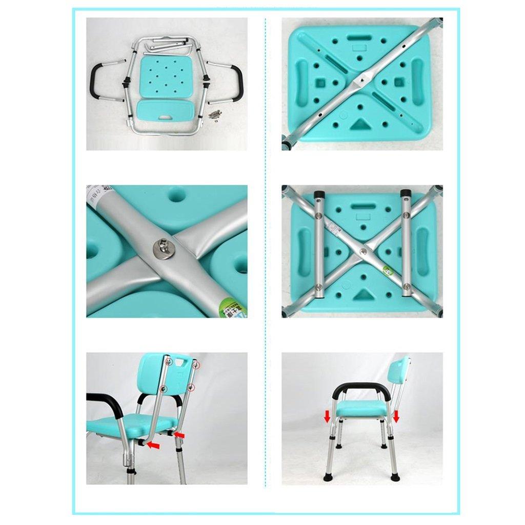Amazon.com: Thick Aluminum Alloy Elderly Bath Chair Pregnant Women ...