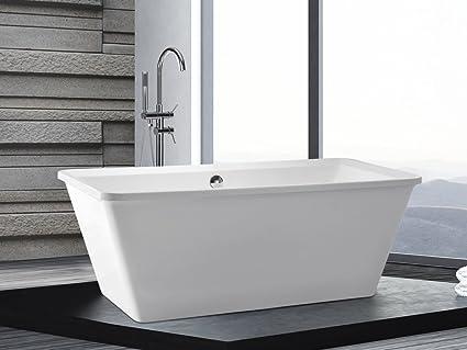 Vasca Da Bagno Freestanding Rettangolare : Vasca da bagno freestanding rettangolare in acrilico aruba