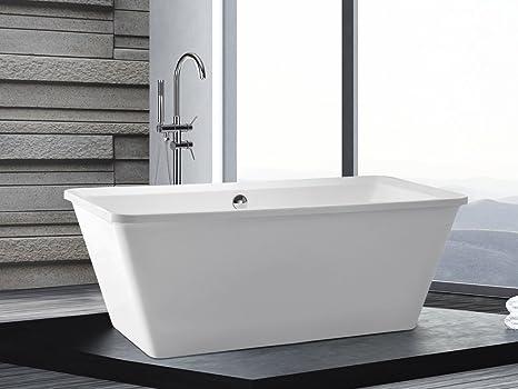 Vasca Da Bagno Freestanding In Acrilico : Vasca da bagno freestanding rettangolare in acrilico aruba