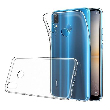 Simpeak Funda Compatible Huawei P20 Lite, Fundas Transparente Huawei P20 Lite Carcasa Huawei P20 Lite Funda (5,84 Pulgadas) Silicona TPU Case