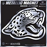 "Jacksonville Jaguars 6"" MAGNET Silver Metallic Style Vinyl Auto Home Football"