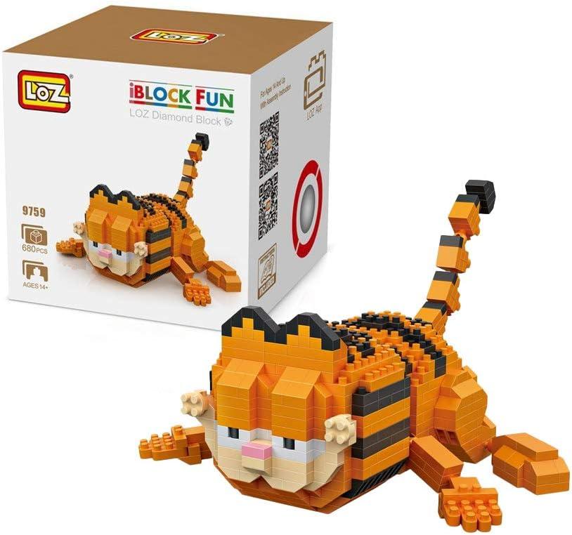 Outletdelocio. LOZ 9759. Kit de construccion miniaturizada. Garfield Tumbado. 680 Piezas: Amazon.es: Juguetes y juegos
