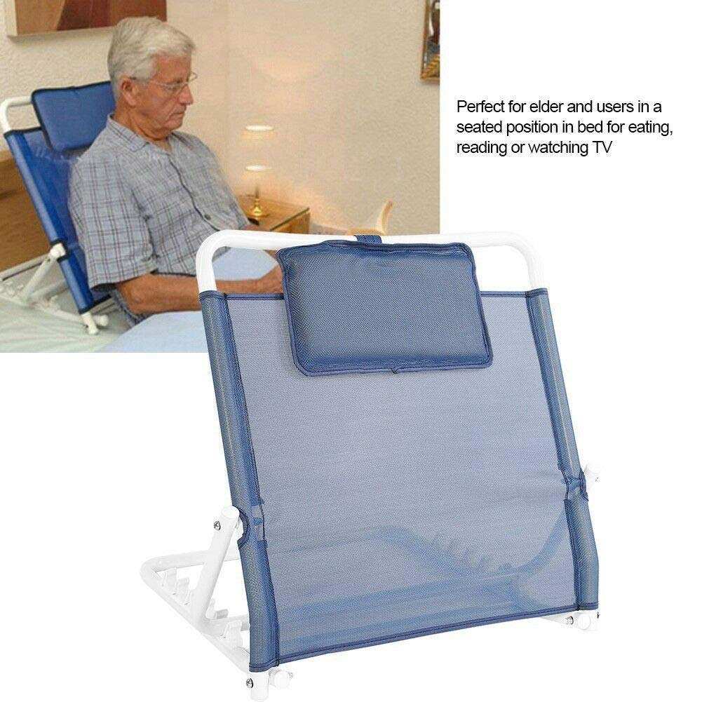 ZJLAN Heavy Duty Deluxe Disability Adjustable Fabric Bed Back Rest Bed Support