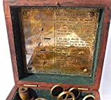 2-Lenses-Vintage-Style-German-Brass-Sextant-with-Patina-Antiquec-3030