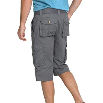 Freetrack Men's Cargo Shorts Cotton Active Casual Shorts Multi-Pocket Outdoor Short Pants