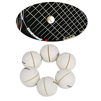 Andux 6pcs/set - Raqueta de tenis Amortiguador de vibraciones silicona Amortiguador de pérdida de tenis String Schock bzq 02, Weiß: Amazon.es: Deportes y ...