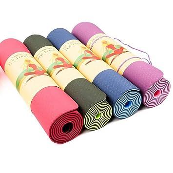 ERSD Alfombrilla de Yoga TPE Bicolor Antideslizante de 6 mm ...