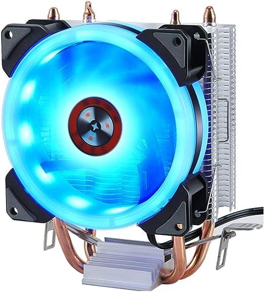 Heaviesk PC de Aluminio Duradera CPU Cooler Ventilador de ...