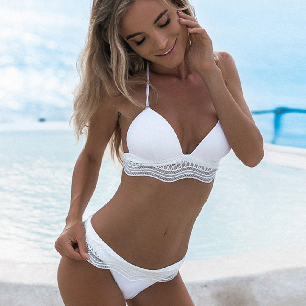 bikinis sexys mujer , ❤️ Amlaiworld Bañador de mujer traje de baño Bikini conjunto push-up acolchado sujetador baño ropa de playa