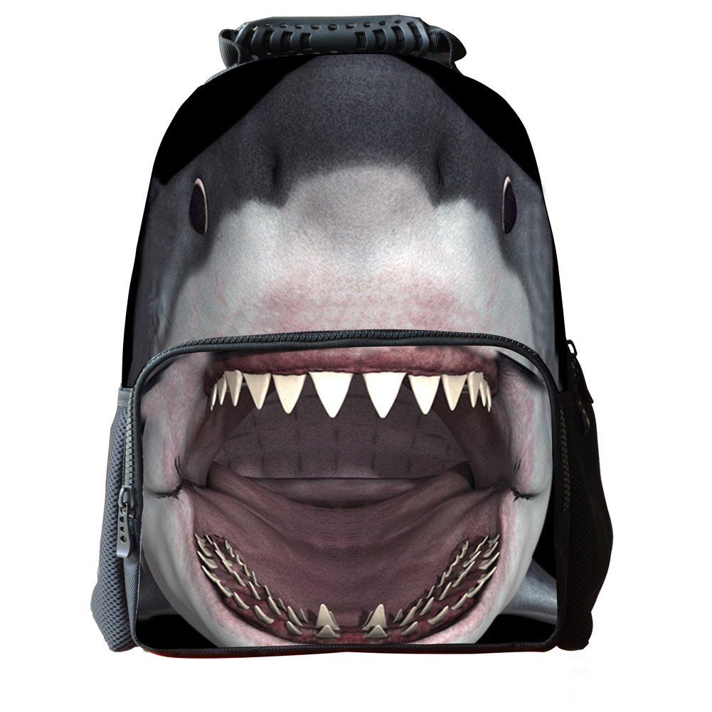 Skymoon Childrens 3D Animal School Backpacks (16 Inch,Shark)