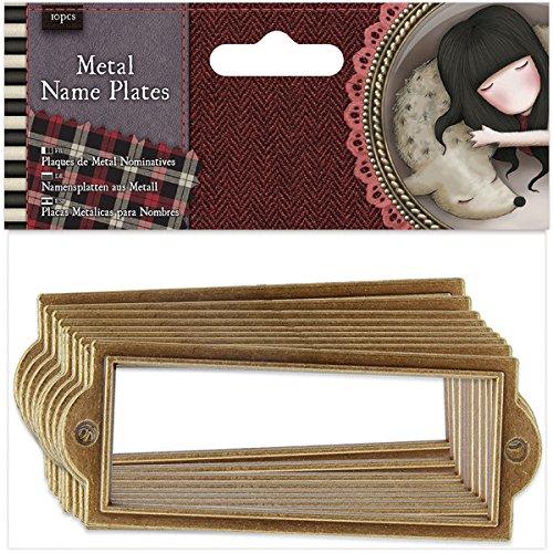 docrafts GOR353101 Santoro Gorjuss Tweed - Juego de 6 placas de metal