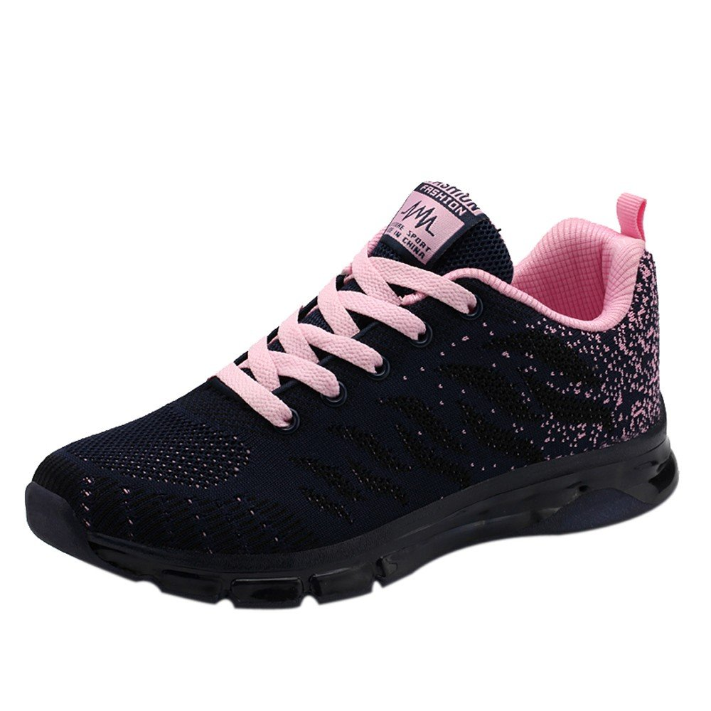 WOZOW Chaussures Sneakers Tissées Volantes Air Cushion Chaussures