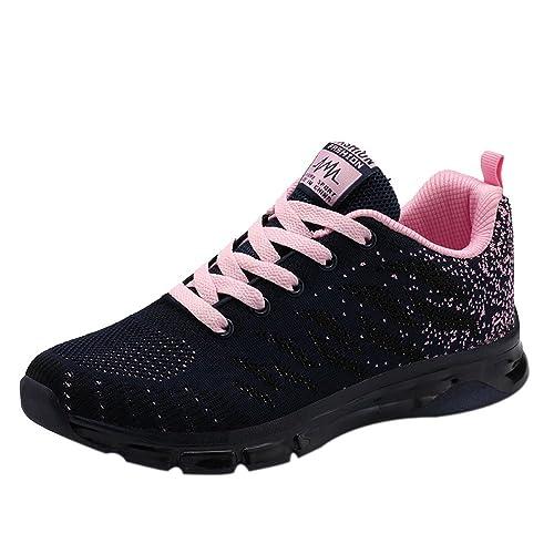 83daa78d71167e WWricotta Damen Sportschuhe Atmungsaktiv Turnschuhe Laufschuhe Schnürschuhe  Freizeitschuhe Outdoor Sneaker Shoes Plateauschuhe Flache Schuhe