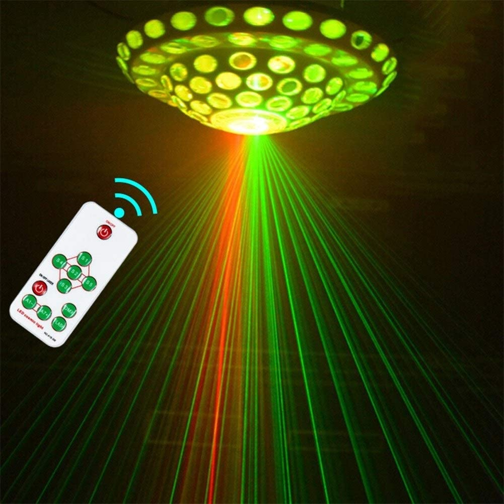 YUX DJ Disco Party Luces estroboscópicas Sonido Activado Proyector ...
