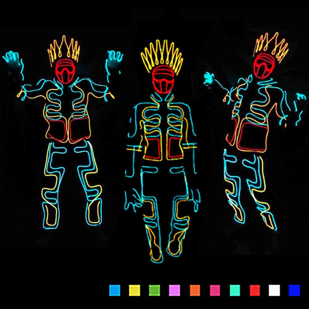 DHTW&R EL Kaltlicht Fluoreszierender Tanz Glühende Kleidung Beleuchtet Strichmännchen Mann Kostüm Nachtshow Batteriebetrieben Maskerade Party Kostüm B07NPQPLGT Kostüme für Erwachsene Der Schatz des Kindes, unser Glück  | Moderne und el
