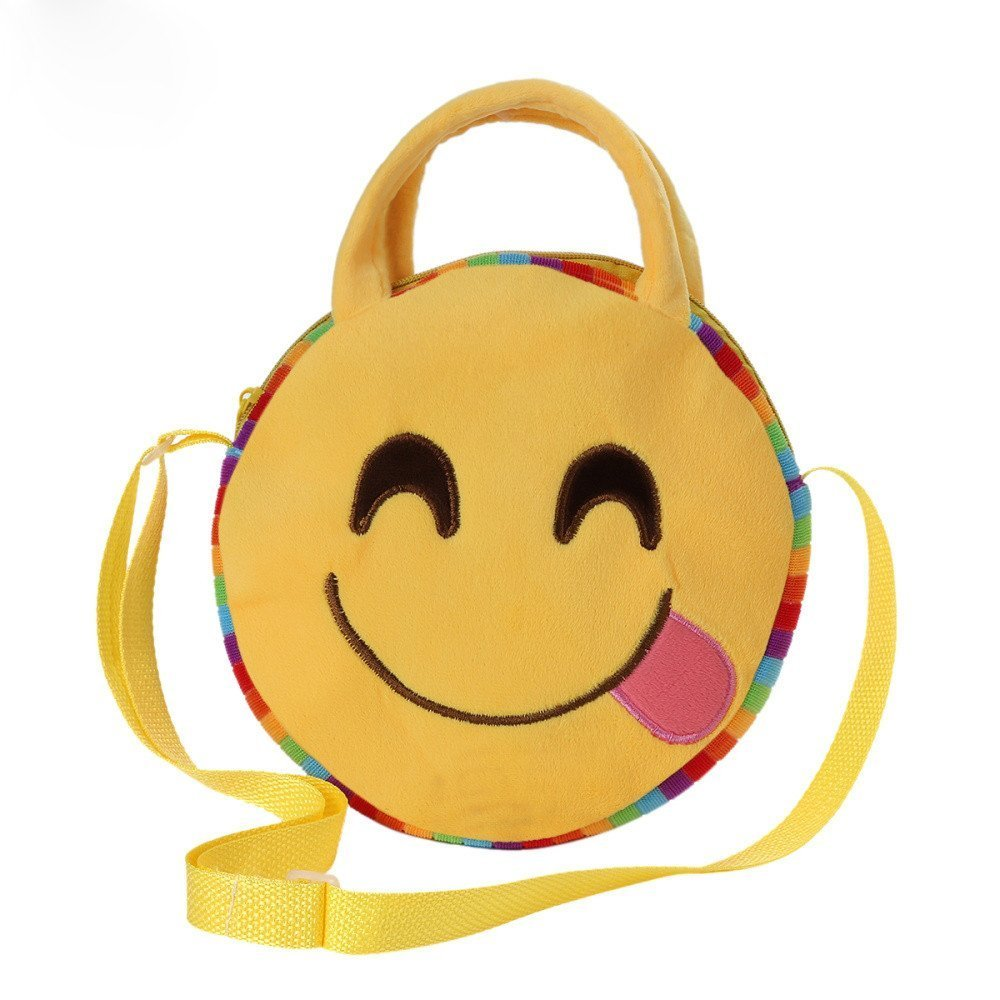 Liraly Gift Bags, 2018 Crossbody Bag Cute Emoji Emoticon Shoulder School Child Bag Backpack Satchel Rucksack Handbag (Yellow E)