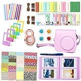 Accessori Fujifilm Instax Mini 8, Leebotree Pacchetto Camera Intero(Caso/Album/selfie Lente/Filtri/Cornici da appendere al muro/Pellicole/Adesivi per i bordi/Adesivi per gli angoli/Pennarello) (Pink)