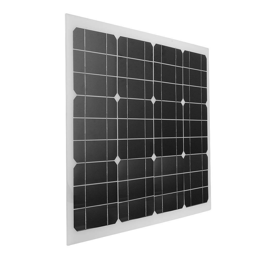 Zerone Portable Solar Panel, 30W Flexible High-Efficiency 2V Solar Panel Outdoor for RV, Boat, Cabin, Tent, Car, Trucks, Trailers