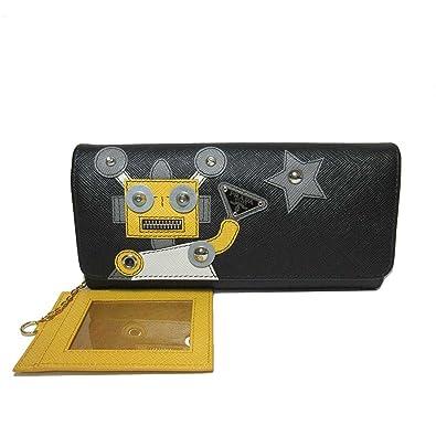 7218222341db プラダ PRADA 財布 1MH132 サフィアーノ パスケース付き ロボットモチーフ 二つ折り長財布 SAFFIANO ROBOT