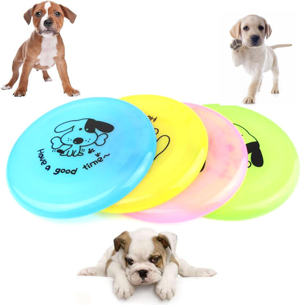 Phishinno Flying Disc,3 PCS Dog Fly Disc Dogobie Disc Outdoor Dog Toy Soft colorful Throwing Disks Set 7.8  (Dog Ornaments for Free)