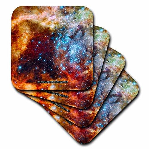 3dRose cst 76787 3 Nebula 30 Ultraviolet Ceramic Coasters