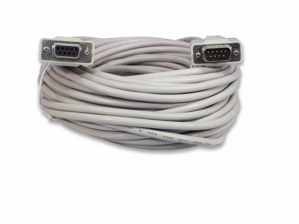 YCS Basics 50 Foot DB9 9 Pin Serial / RS232 Male / Female Extension Cable Your Cable Store PCELPN-53973186